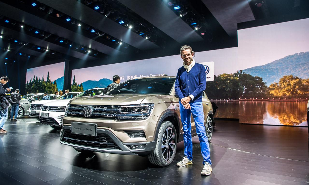 VW Volkswagen Touareg Premiere Peking 2018 SUV T Roc Langer Radstand Ateca SUV Offensive China AUTOmativ.de Benjamin Brodbeck 44 - Klare Ansage für China: Volkswagen bringt 12 neue SUV bis 2020