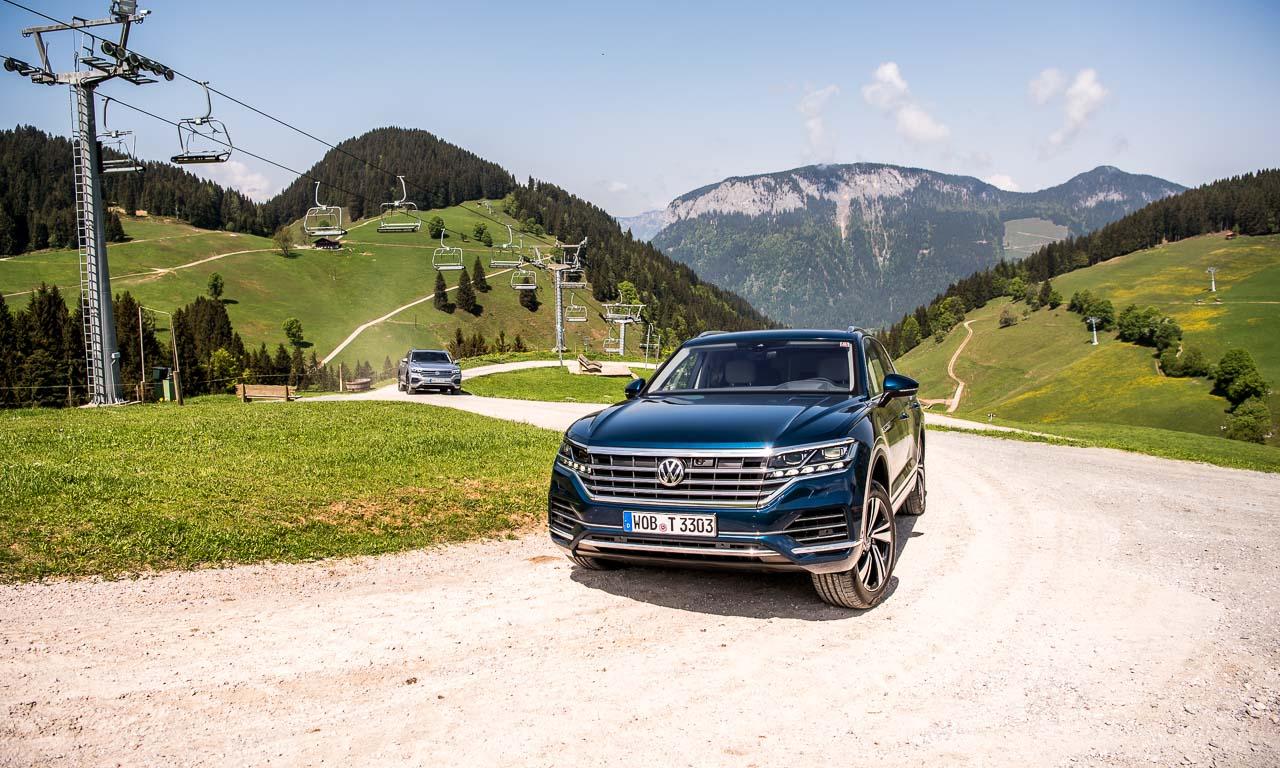Volkswagen VW Touareg Elegance V6 3.0 286 PS 600 Nm 2018 Fahrbericht Test Aquamarineblau Metallic Salzburg Tirol Benjamin Brodbeck AUTOmativ.de 37 - Fahrbericht neuer VW Touareg 3.0 TDI (286 PS): Dynamischer Schwergewichtsleichtfuß