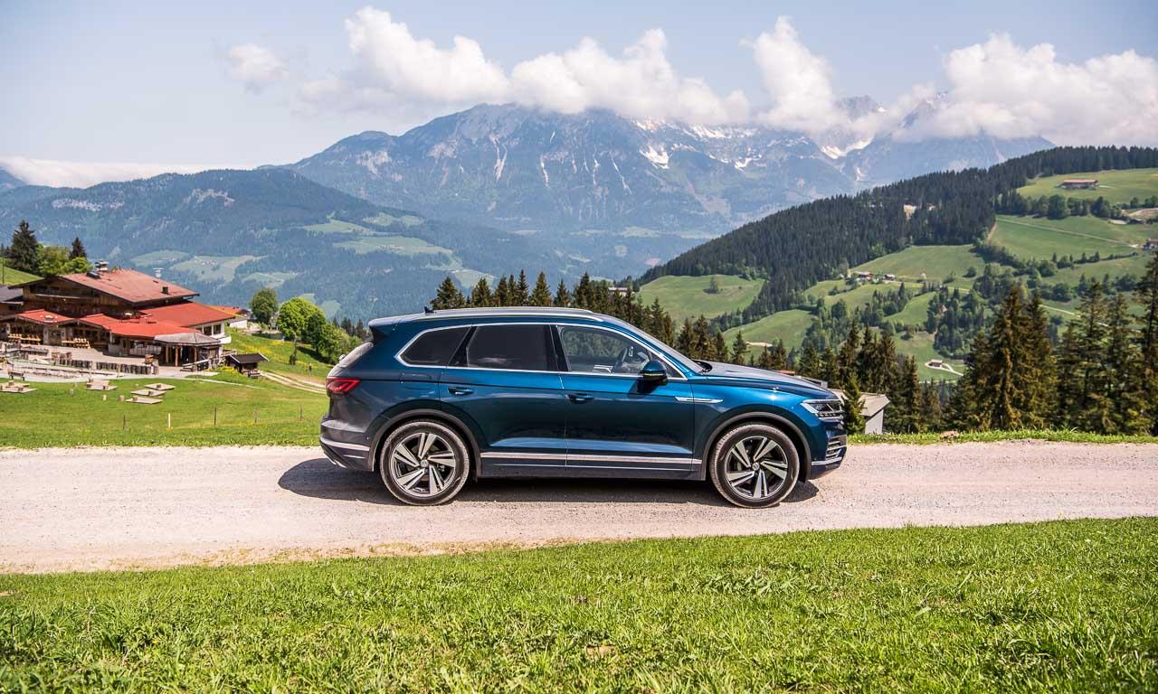 Volkswagen VW Touareg Elegance V6 3.0 286 PS 600 Nm 2018 Fahrbericht Test Aquamarineblau Metallic Salzburg Tirol Benjamin Brodbeck AUTOmativ.de 39 - Fahrbericht neuer VW Touareg 3.0 TDI (286 PS): Dynamischer Schwergewichtsleichtfuß