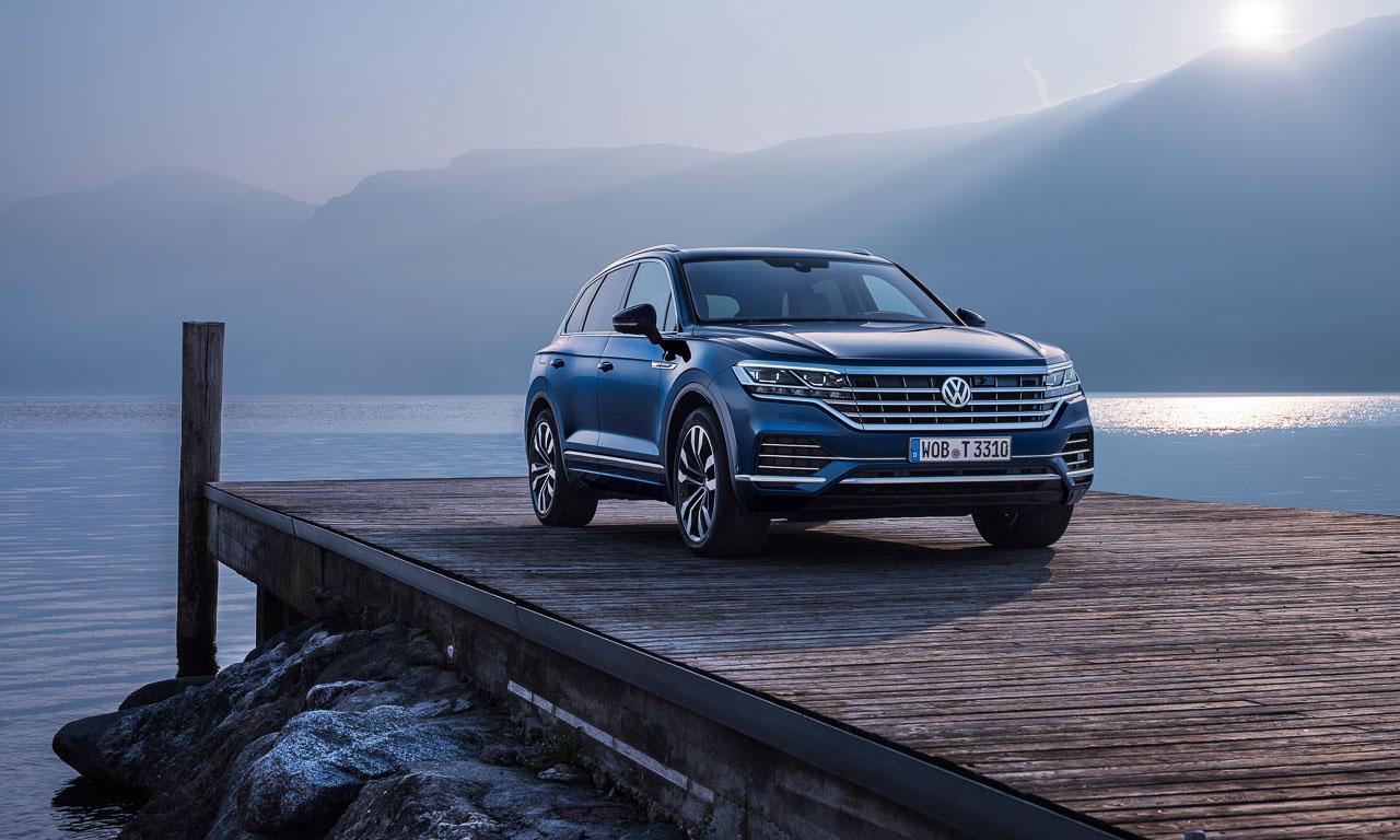 Volkswagen VW Touareg Elegance V6 3.0 286 PS 600 Nm 2018 Fahrbericht Test Aquamarineblau Metallic Salzburg Tirol Benjamin Brodbeck AUTOmativ.de 7 - Fahrbericht neuer VW Touareg 3.0 TDI (286 PS): Dynamischer Schwergewichtsleichtfuß