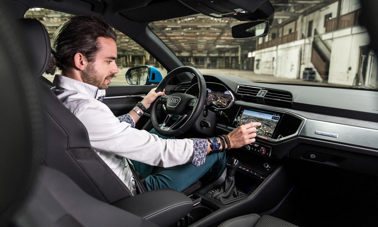 1Audi Q3 2018 Erster Test AUTOmativ.de Benjamin Brodbeck 10 - Erste Sitzprobe neuer Audi Q3 (2018): Von der Gehhilfe zum Lifestyler