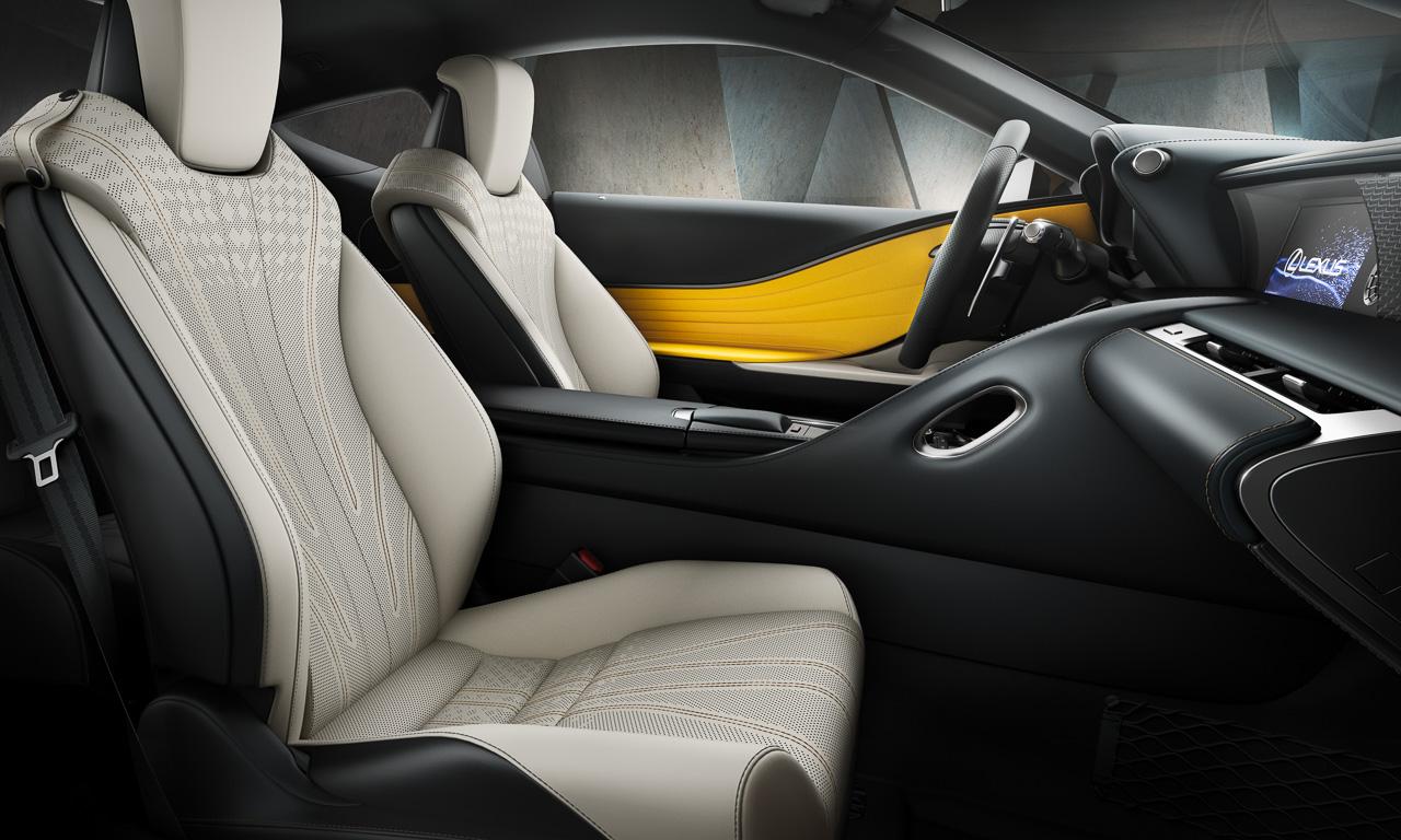 Lexus LC Yellow Edition 4 - Lexus LC Yellow Edition: Auroragelb für Innen und Außen