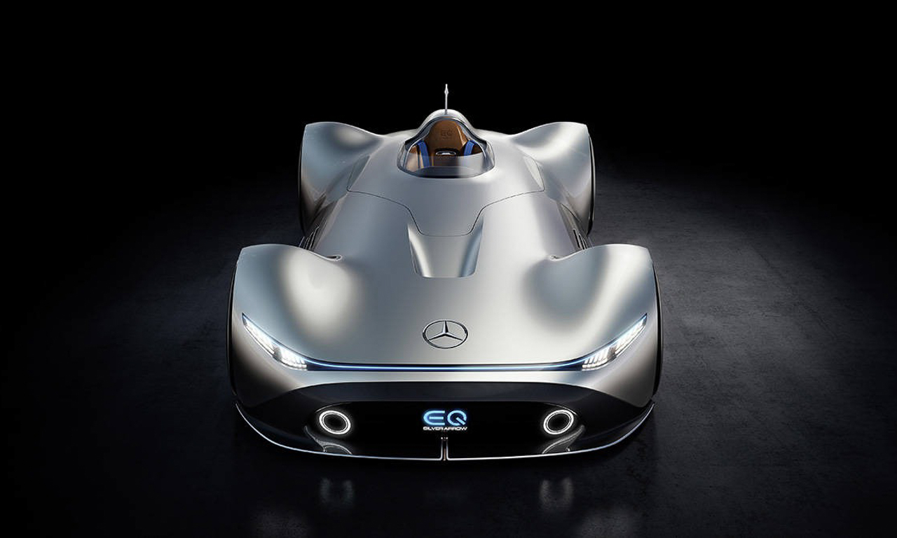 Mercedes Benz EQ Silver Arrow 3 - Mercedes-Benz EQ Silver Arrow: Eine Komposition aus 1937 und 2040