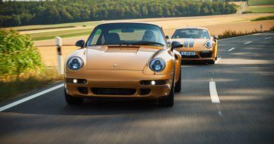 """Project Gold Porsche 993 Turbo S in Gold wie Porsche 911 Turbo S Exclusive Series AUTOmativ.de Benjamin Brodbeck 2 390x205 - Warum der Porsche 993 Turbo """"Project Gold"""" keine Straßenzulassung bekommen kann"""