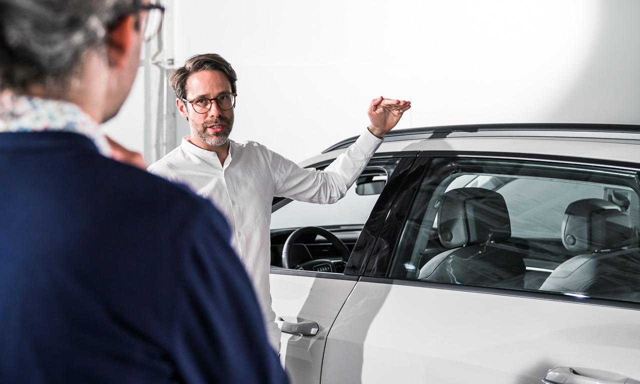 Audi e tron 2019 Premiere Review Test Erste Bilder AUTOmativ.de Benjamin Brodbeck 14 - Audi e-tron (2019): Erste Sitzprobe im vollelektrischen Audi SUV!