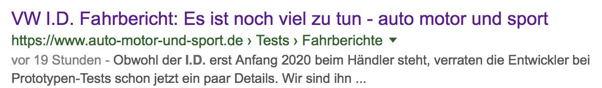 """Bildschirmfoto 2018 12 16 um 20.39.40 e1544989333979 - Medien zum Fahrbericht des VW ID.: """"Noch viel zu tun"""" und: """"Der Golf ist tot"""""""