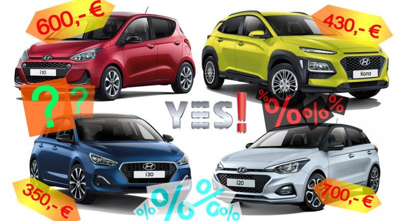 Hyundai Sondermodelle YES Kona i10 i20 i30 YES Kopie 800x445 - Hyundai YES! und YES! Plus Sondermodelle i10, i20, i30 und Kona - Lohnen sie sich?