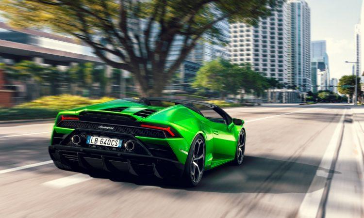 Lamborghini Huracan Evo Spyder 750x450 - Lamborghini Huracan Evo Spyder als offenes 640 PS starkes Biest