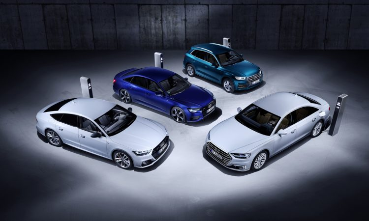 Plug in Hybrid Modelle Audi Q5 A6 A7 und A8 750x450 - Neu: Audi Q5, A6, A7, A8 als Plug-in-Hybrid-Modelle