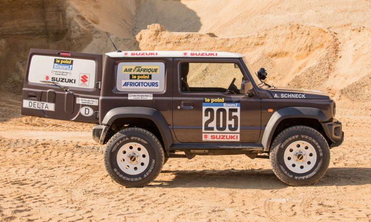 Suzuki Jimny von delta4x4 –Back to the Roots of Dakar 6 750x450 - Revival des Suzuki Jimny - Delta 4x4 verpasst dem Zwerg einen Offroad Anzug