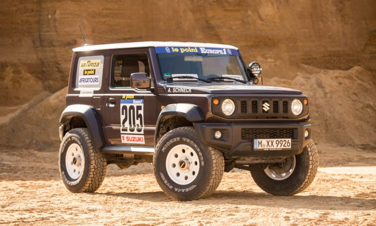 Suzuki Jimny von delta4x4 –Back to the Roots of Dakar 7 750x450 - Revival des Suzuki Jimny - Delta 4x4 verpasst dem Zwerg einen Offroad Anzug
