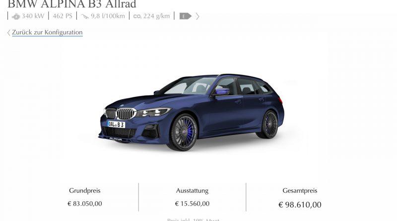 Alpina B3 Konfigurator 800x445 - BMW Alpina B3 Verkaufsstart: Das wäre unsere Konfiguration!