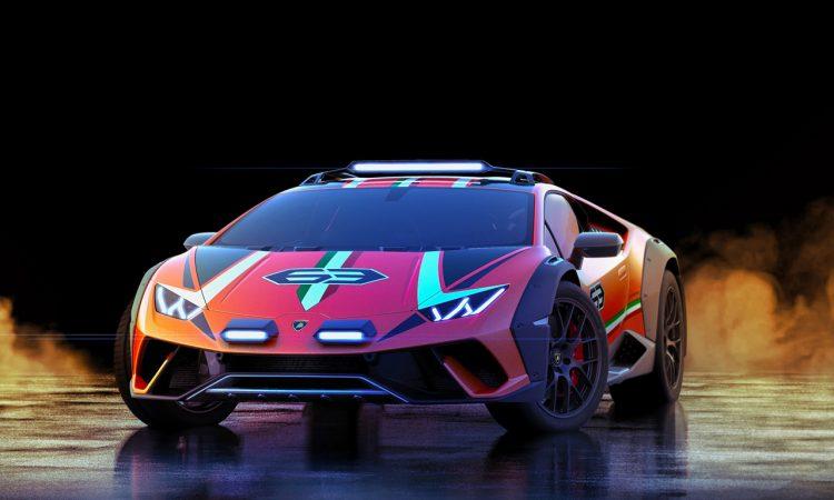 Lamborghini Huracan Sterrato Konzept V10 Supersportwagens Huracán mit der vom Super SUV Urus AUTOmativ.de 3 750x450 - Lamborghini Sterrato V10: Ab in's Gelände!