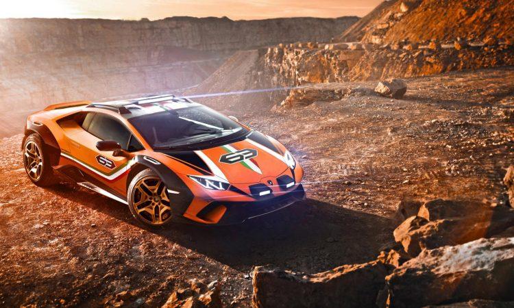 Lamborghini Huracan Sterrato Konzept V10 Supersportwagens Huracán mit der vom Super SUV Urus AUTOmativ.de 4 750x450 - Lamborghini Sterrato V10: Ab in's Gelände!