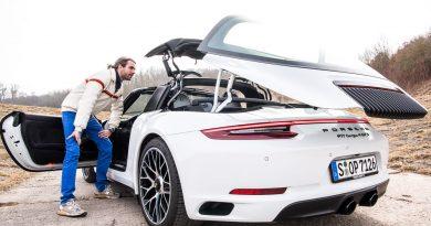 Porsche 911 Targa 4 GTS im Test Fahrbericht AUTOmativ.de Benjamin Brodbeck 27 390x205 - Porsche 911 (991.2) Targa 4 GTS im Fahrbericht: Wölb-Glas-Transformer