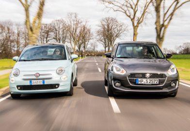 Mild-Hybride im Vergleich: Fiat 500 Hybrid vs. Suzuki Swift Hybrid