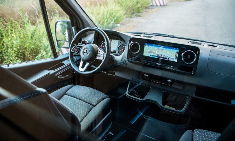 Mercedes Benz Sprinter 316 CDi Nutzfahrzeug Kastenwagen Test und Fahrbericht AUTOmativ.de Benjamin Brodbeck 23 750x450 - Praxistest Mercedes-Benz Sprinter 316 CDI: Multimedial und intuitiv - der beste Kastenwagen?