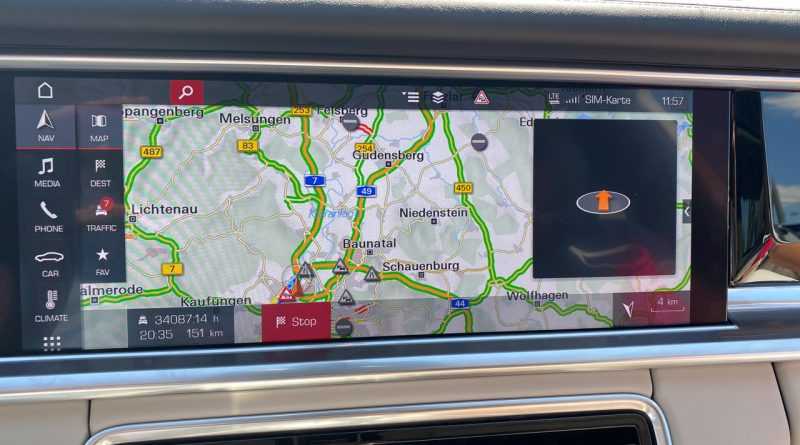 Porsche Panamera Navigationssystem Fehler Stunden 5 800x445 - 34.087:14 Stunden Verzögerung im Porsche Navi für 151 Kilometer?!
