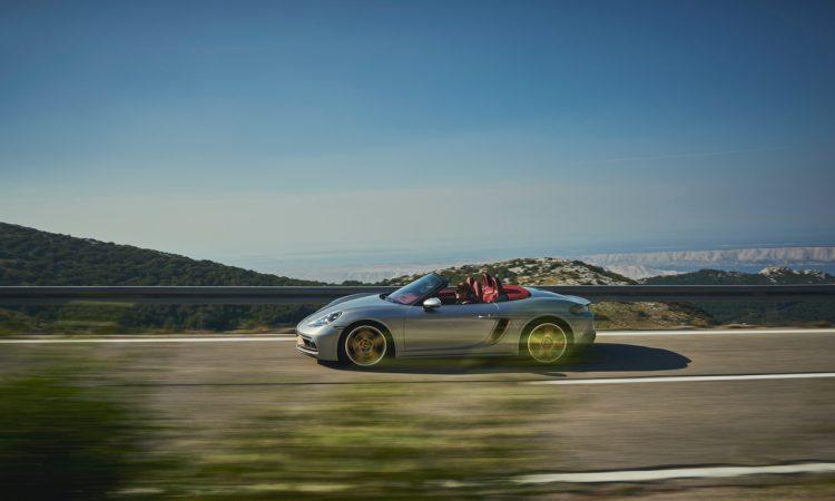 Porsche Boxster 25 Jahre limitiertes Jubilaeumsmodell 12 750x450 - Porsche Boxster 25 Jahre: Limitiertes Jubiläumsmodell mit goldenen Applikationen