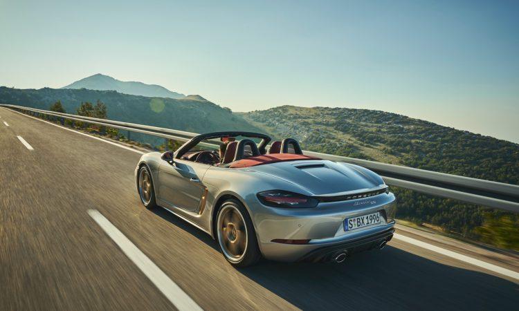 Porsche Boxster 25 Jahre limitiertes Jubilaeumsmodell 3 750x450 - Porsche Boxster 25 Jahre: Limitiertes Jubiläumsmodell mit goldenen Applikationen