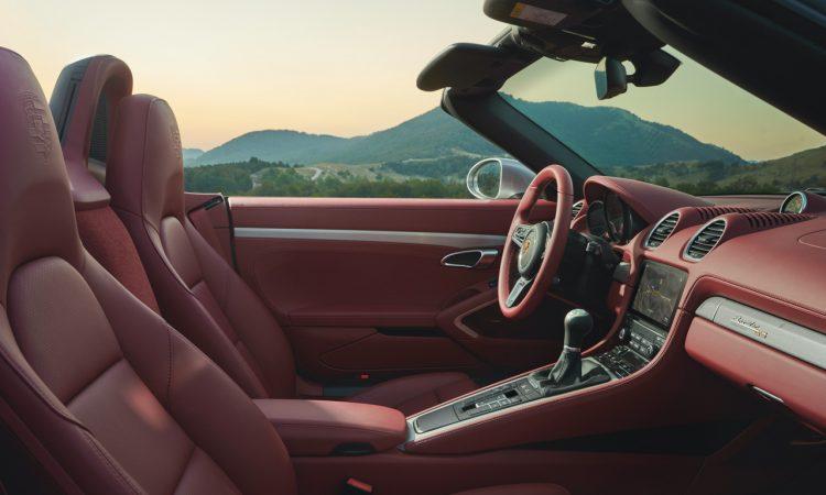 Porsche Boxster 25 Jahre limitiertes Jubilaeumsmodell 5 750x450 - Porsche Boxster 25 Jahre: Limitiertes Jubiläumsmodell mit goldenen Applikationen