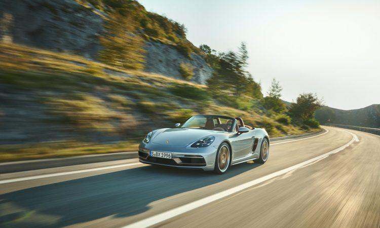 Porsche Boxster 25 Jahre limitiertes Jubilaeumsmodell 9 750x450 - Porsche Boxster 25 Jahre: Limitiertes Jubiläumsmodell mit goldenen Applikationen