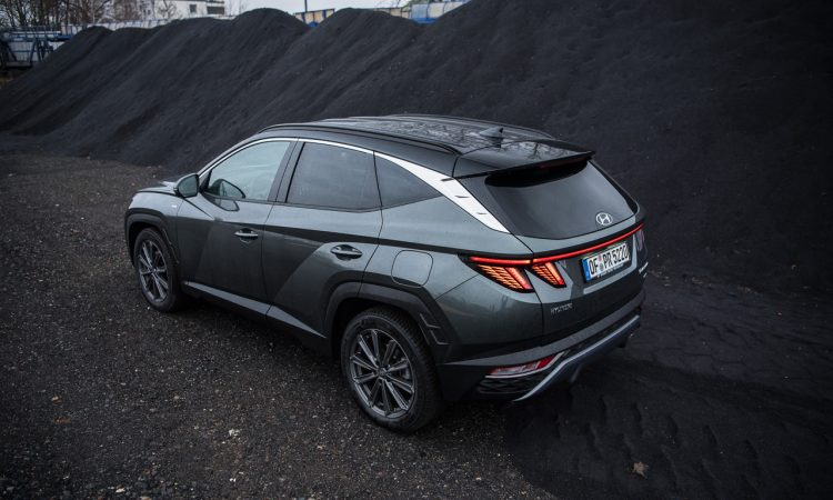 Hyundai Tucson 1.6 T GDI Prime Mild Hybrid Assistenz Motor Autobahn Optik Ausstattung Preis Test Fahrbericht Review 18 750x450 - Hyundai Tucson 1.6 T-GDI mit 48V-Hybrid: Unruhiger Hingucker